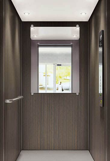 KONE EcoSpace® elevator interior wood pattern